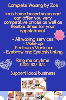 Complete Waxing by Zoe Fassifern Lake Macquarie Area Preview