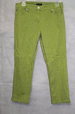 Willi Smith Women's Lime Green Polka Dot Capri Pants Size 8- 24