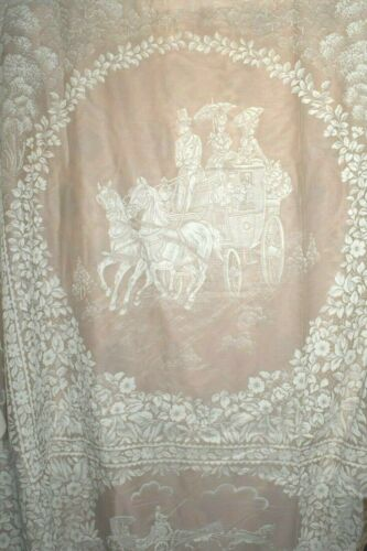 RARE Vintage SPIEGEL COVERLET Bedspread CARRIAGE LACE Full Size NEW