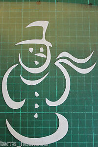 Christmas-Snowman-Wall-Window-Stickers-Vinyl-Decal-Decorations-XMAS-Snowmen