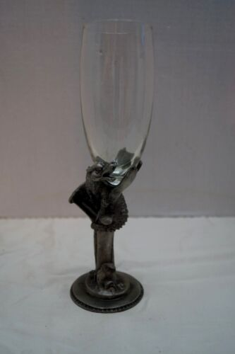 pewter stem dragon champaign glass