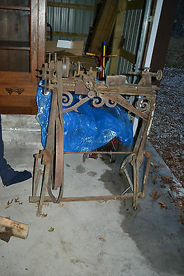 Antique H.l. Shepard Co. Cast Iron Treadle Lathe Tool Cincinnati Oh. 1800s