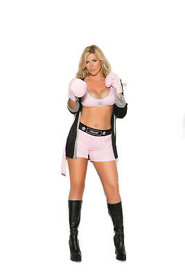 Sexy 4PC Prizefighter Boxing Women's Halloween Costume by EM. Plus Size Too!](Boxing Costume Women)