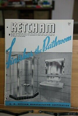 Brochure Catalog G. M. Ketcham Manufacturing Bathroom Medicine Cabinets Mirror, used for sale  Springfield