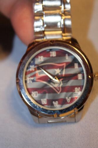 Patriots Custom Fashion Stainless Steel Band Quartz Sport Analog Wrist Watch New