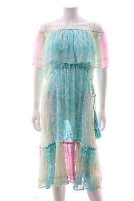 Juliet Dunn Silk Off-the-shoulder Dress / Multi