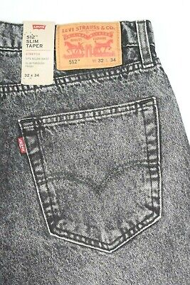 NEW GRAY Levi's 512 SLIM STRETCH Taper Jeans Style: 288330284