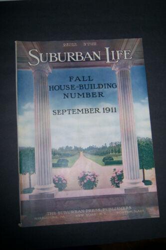 SUBURBAN LIFE MAGAZINE September 1911 Greenhouses Brick Jelly-Making Waterworks