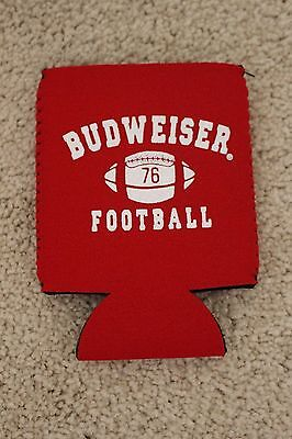 Budweiser Football Bottle Can Coozie Cooler Coosie Koozie Cozy NEW