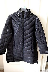 New Womens Calvin Klein Packable LONG Down Jacket black/gray/taupe/purple S M L