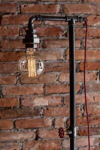 Industrial floor lamp ebay vintage industrial retro style steel pipe tall floor lamp edison bulb aloadofball Image collections