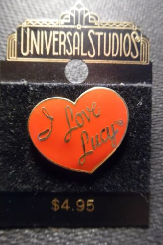 """Official Universal Studio, """"I Love Lucy"""" Pin Trading: Red Logo Heart On Card"""