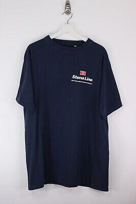 Vintage STENA LINE Navy Blue T-shirt | 4XL