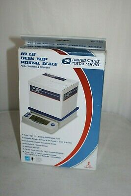 Usps 10 Lb. Desk Top Postal Scale Extra Large Lcd Digital Electronic Nib