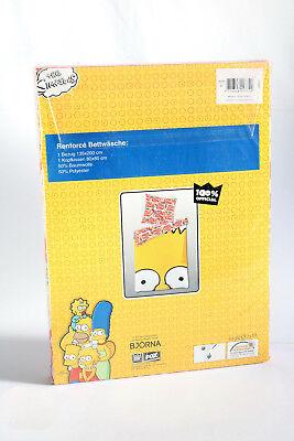 Bart Simpsons Renforce Wende Bettwäsche Bettbezug 135x200 + Kissenbezug 80x80cm ()