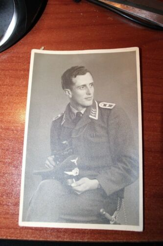 WWII WORLD WAR II POSTCARD GERMAN luftwaffe officer with   dagger