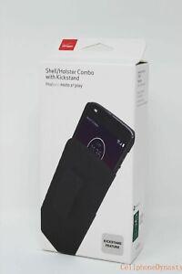 Verizon OEM Shell Holster Combo Case w/ Clip For Motorola Moto Z2 Play Edition