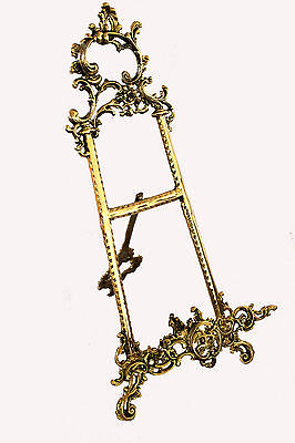 "Solid Brass Decorative Brass Easel 9"" ~ Picture Stand New"