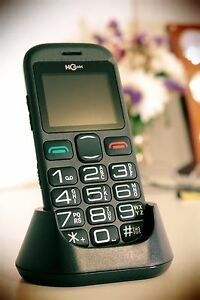 Mobile Cell Phone For Senior Citizens Big Dial Buttons Help SOS Function Desk