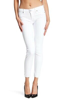 $185 NWT NEW WOMEN'S HUDSON JEANS KRISTA ANKLE SUPER SKINNY IN WHITE SIZE 28