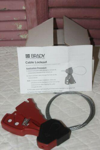 Brady 6 Ft Cable L 1/8 Dia,  Cable Lockout