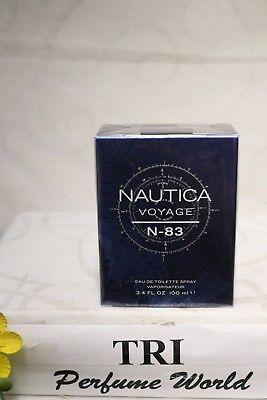 NAUTICA VOYAGE N-83 Eau de Toilette Men Spray 3.4 fl.oz. Sealed segunda mano  Embacar hacia Mexico