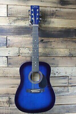 Johnson JG-610-BL  1/2 Size Acoustic Guitar, Blue Burst  #R5732