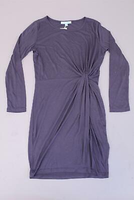 She & Sky Women's Knot Front Long Sleeve Dress KB8 Gray Small NWT Long Sleeve Knot Front Dress