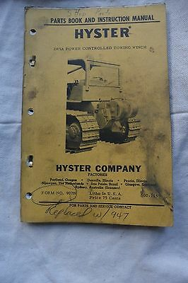 Hyster D89a Towing Winch Parts Book Instruction Manual Tractor