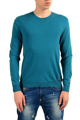 Versace Collection Men's Wool Pine Green Crewneck Sweater Size S M L XL 2XL 3XL
