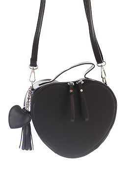 LB-90-2 Black Heart Form Pastel Goth Lolita Bag Harajuku Cloack - Black Cloack