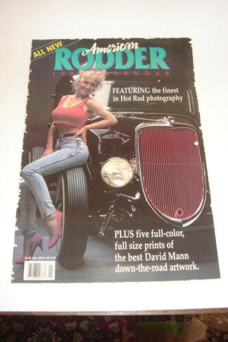 VTG 1990 American Rodder Calendar 5 David Mann Art Print Hot Rod Ford Chevy NSRA