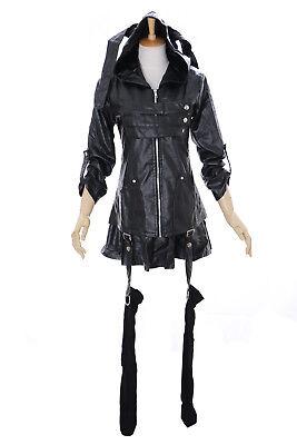 MN-26 Tokyo Ghoul Toka schwarz Pu-Leder Punk Gothic Kostüm Jacke Rock Cosplay