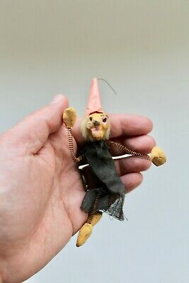 1950's Halloween Decorations (VINTAGE 1950's HALLOWEEN WITCH SPRING LIMBS PIN/BROOCH!)