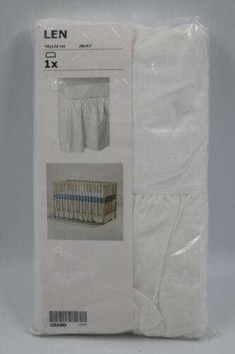Ikea Len White Baby Bed Crib Bedskirt Dust Ruffle NEW