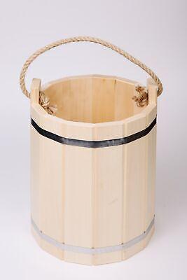 Bath Bucket 10 L Fungal-Resistant For Sauna And Russian Banya