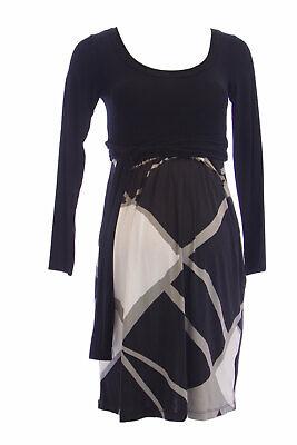 OLIAN Maternity Womens Pink Zig Zag Print Dianne Waist Tie Sheath Dress $130 NWT