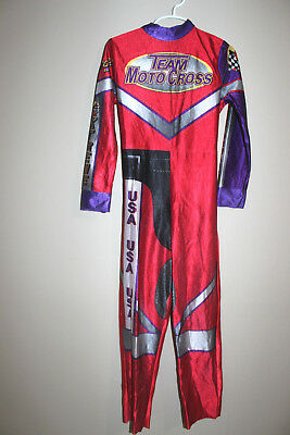 Disguise Boy Team Moto Cross Halloween cosplay Costume Sz: Small 6 Car - Racer Boy Kostüm
