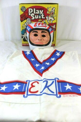VTG 1974 Evel Knievel Ben Cooper #581 Play Costume Mask Original Box M 8-10