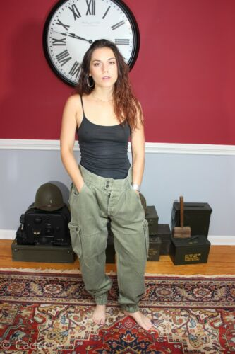 French Indo China Vietnam War Airborne Paratrooper Jump Pants Trousers J146