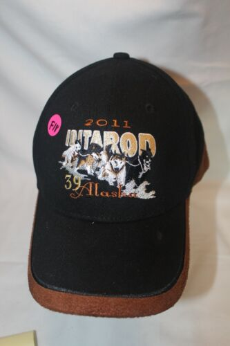 (F18) 2011 Iditarod 39 Alaska Embroidered & Suede Strapback Hat Cap
