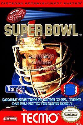 RGC Huge Poster - Tecmo Super Bowl Original Nintendo NES BOX ART - NES055