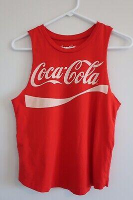 Red Women's Small Coca Cola Vintage Sleeveless T Shirt Coke
