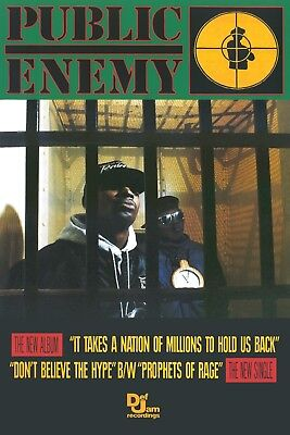 PUBLIC ENEMY IT TAKES A NATION POSTER NEW  !