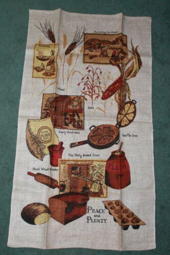 Vintage MCM Linen Kitchen Towel EUC