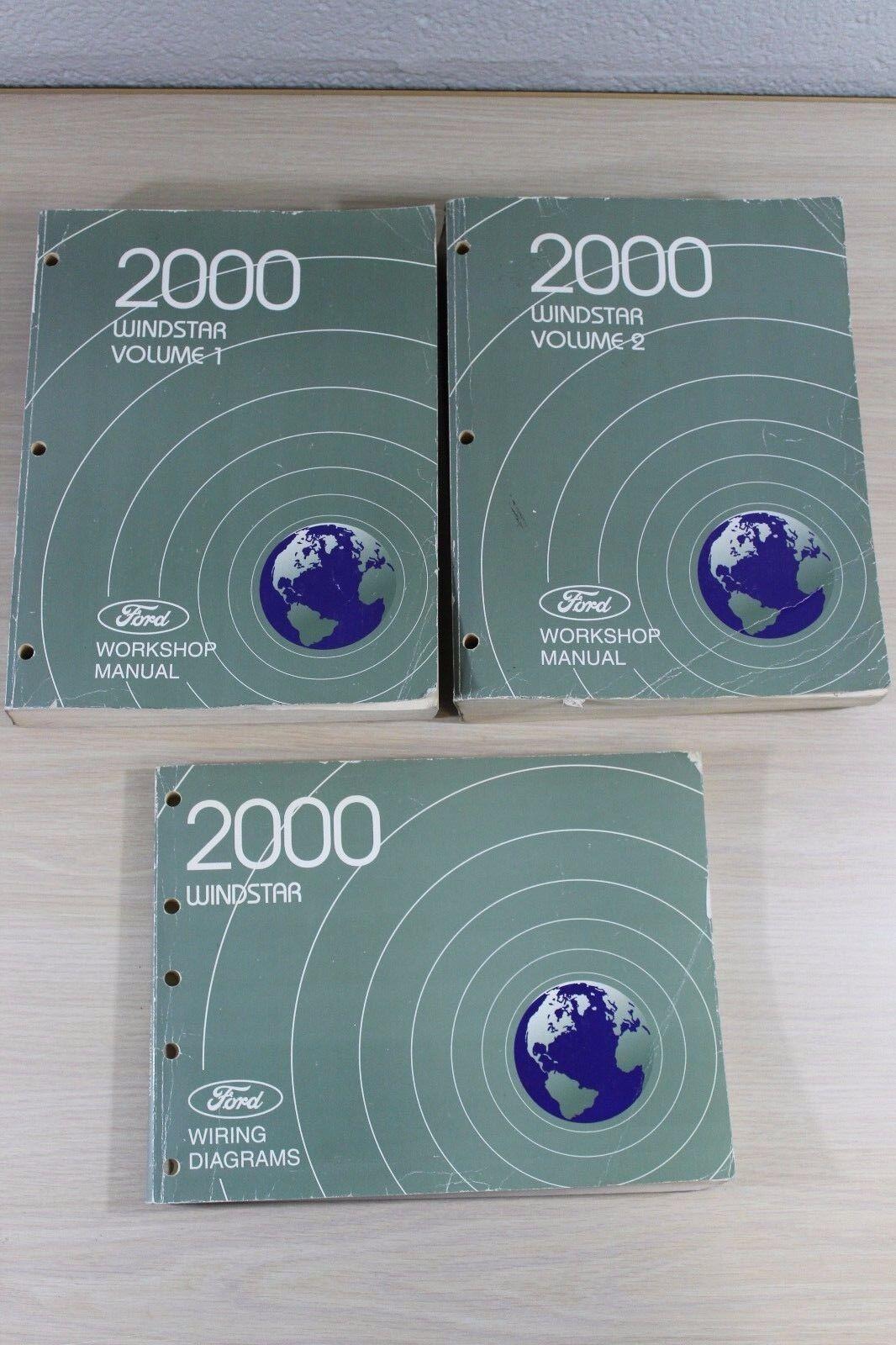 Used 2000 Ford Windstar Workshop Manual 1  U0026 2  U0026 Wiring Diagrams Book Set For Sale