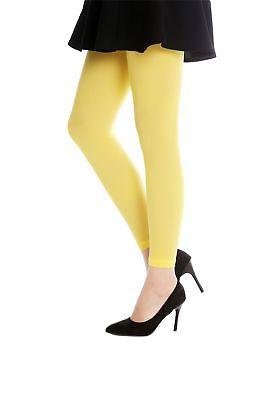 DRESS ME UP Strumpfhose Leggings Damenkostüm Karneval Halloween gelb S/M - Dress Up Kostüm Gelb