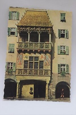 Alte Ansichtskarte Innsbruck / Österr. - Goldenes Dachl - 1950er Jahre / ungel.