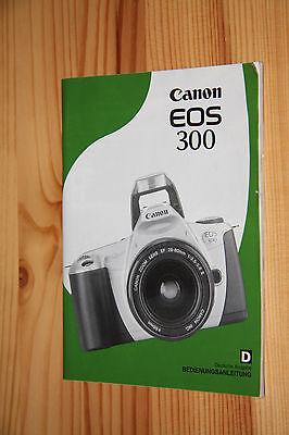 Bedienungsanleitung Canon EOS 300 – natürlich das Original von Canon.