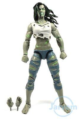 """Marvel Legends 6"""" Inch Super Skrull BAF Wave F4 Grey She-Hulk Loose Complete"""